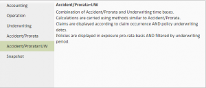 Insurance Data Model - Accident/Prorata=UW